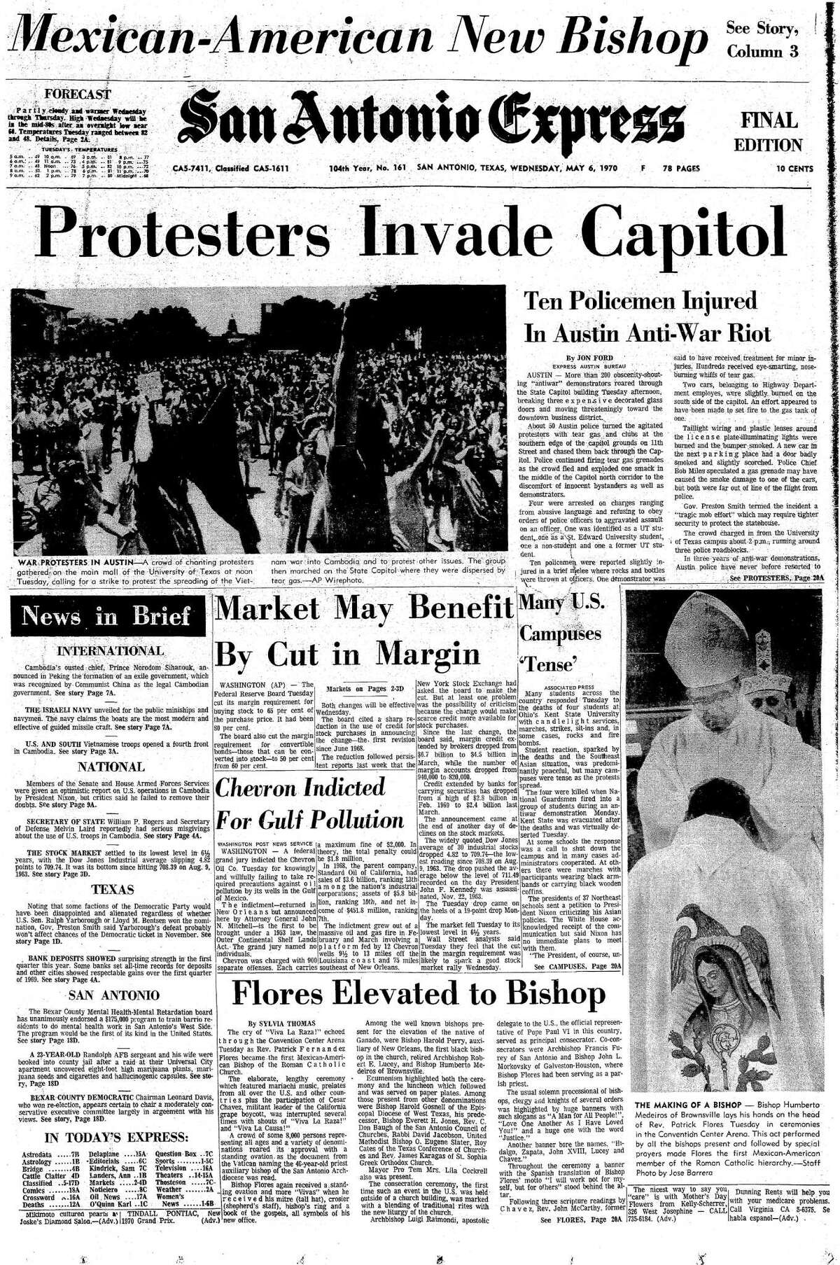 May 6, 1970 EN Cover: Rev. Patrick Fernandez Flores becomes the first Mexican-American bishop of the Roman Catholic Church.