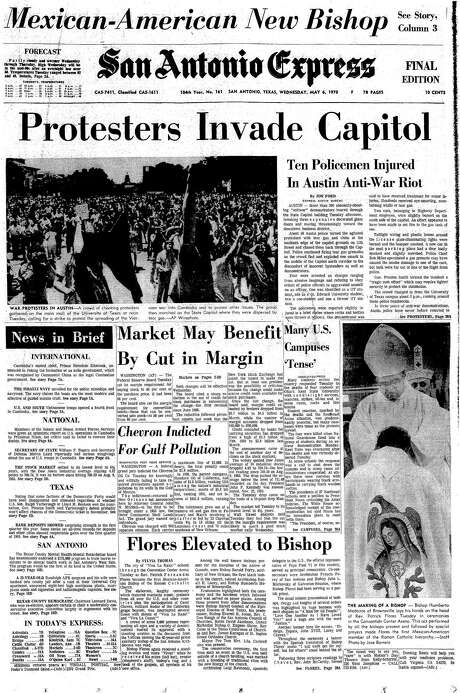 May 6, 1970 EN Cover: Rev. Patrick Fernandez Flores becomes the first Mexican-American bishop of the Roman Catholic Church. Photo: Michael Knoop / Express-News News Researcher