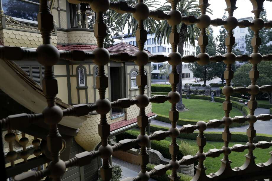 A view of the Winchester Mystery House from inside the mansion. Photo: Marcio Jose Sanchez/AP