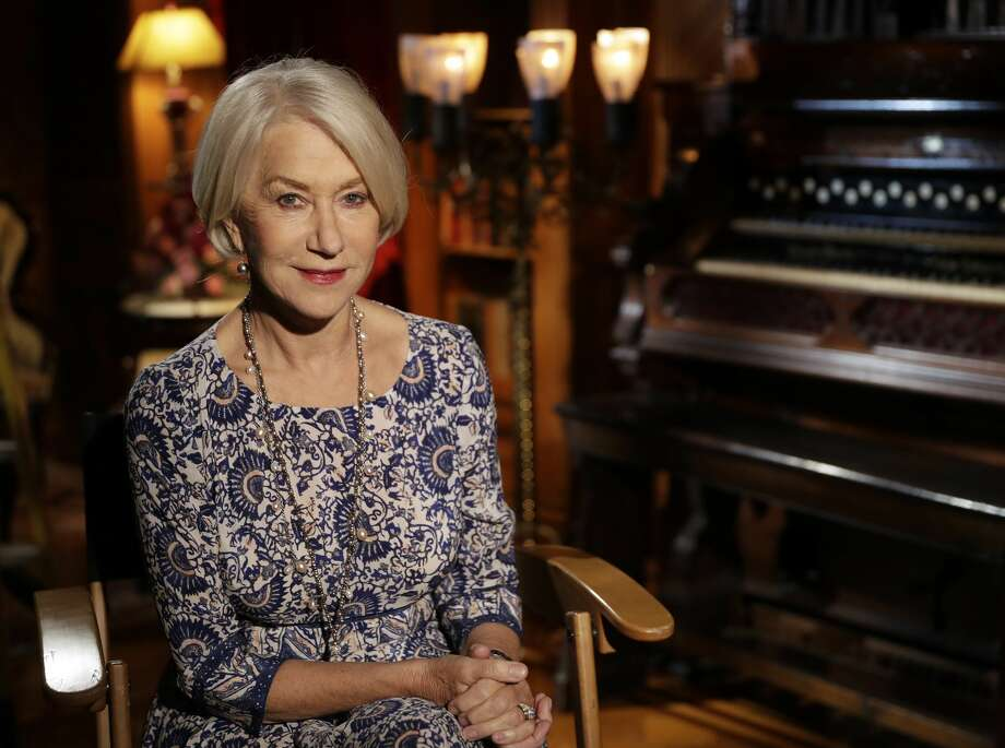 Actress Helen Mirren poses for a photo at the Winchester Mystery House Friday, May 5, 2017, in San Jose, Calif. A film is being released about the life of firearm heiress Sarah Winchester who will be portrayed by actress Helen Mirren. (AP Photo/Marcio Jose Sanchez) Photo: Marcio Jose Sanchez/AP