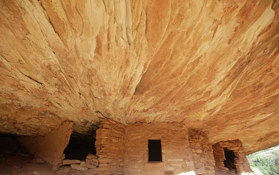 "FILE - This June 22, 2016, file photo, shows the ""House on Fire"" ruins in Mule Canyon, near Blanding, Utah. The Interior Department has released a list of 27 national monuments it is reviewing under a presidential order, including Bears Ears and Grand Staircase-Escalante in Utah and Katahdin Woods and Waters in Maine. A list released Friday includes 22 monuments on federal land in 11 states and five marine monuments in the Atlantic and Pacific Oceans. The review includes a huge reserve in Hawaii established in 2006 and expanded by President Barack Obama. (AP Photo/Rick Bowmer, File ) ORG XMIT: UTRB107 Photo: Rick Bowmer / Copyright 2017 The Associated Press. All rights reserved."