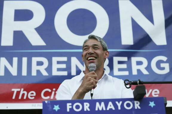 Ron Nirenberg celebrates a win at his campaign headquarters on May 6, 2017.