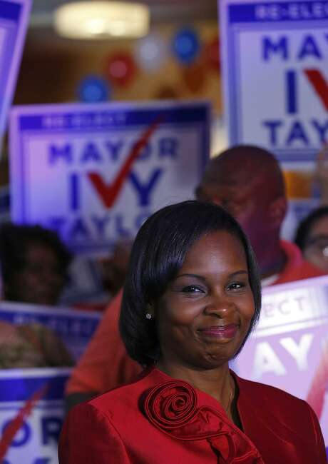 Mayor Ivy Taylor pauses before being interviewed at a watch party May 6, 2017, after she came in first in the election but she faces a runoff against Councilman Ron Nirenberg. Photo: Edward A. Ornelas /San Antonio Express-News / © 2017 San Antonio Express-News