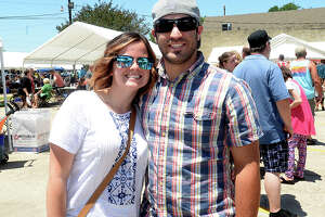 Rachel and Elizondo Garrett were at the 9th annual Mediterranean Festival at St. Michael's Christian Orthodox Church in Beaumont Saturday. The event offered a day of immersion into Mediterranean and Middle Eastern culture, with something to satisfy all of the senses. Sweet and savory traditional fare drew long lines throughout the event, a children's area offered a variety of kids events, a bazaar featured clothes and decor of the culture, and church tours, music and dance rounded out the cultural experience. Photo taken Saturday, May 6, 2017 Kim Brent/The Enterprise