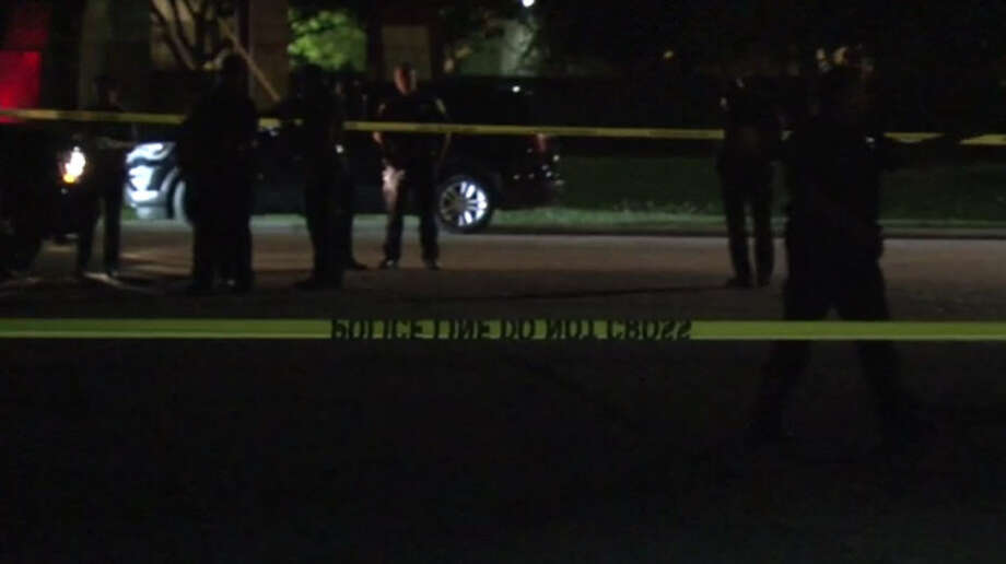 Police searched for a suspect in a west Houston officer-involved shooting Saturday night. Photo: Metro Video
