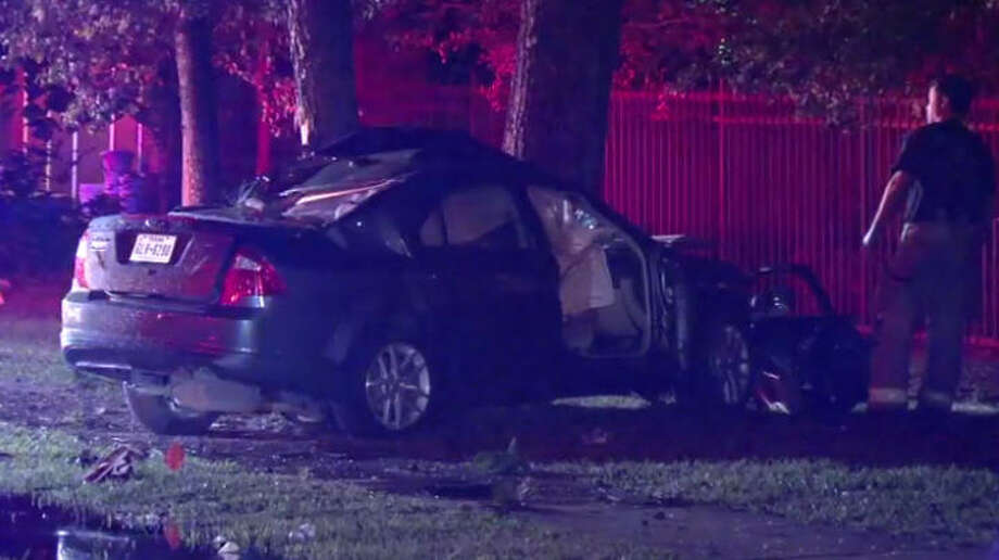 One person died in a dramatic Sunday morning wreck. Photo: Metro Video