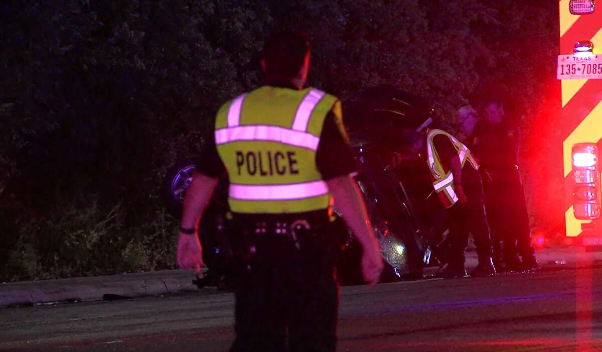 San Antonio police say a woman is dead following a collision on the Northwest Side Sunday morning, May 7, 2017.