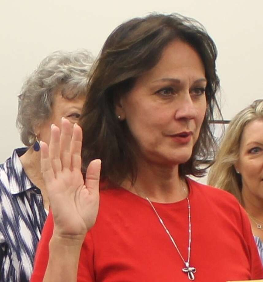 Sally Harris Branson is sworn in to Friendswood City Council Position 2 after defeating Omar Peck.