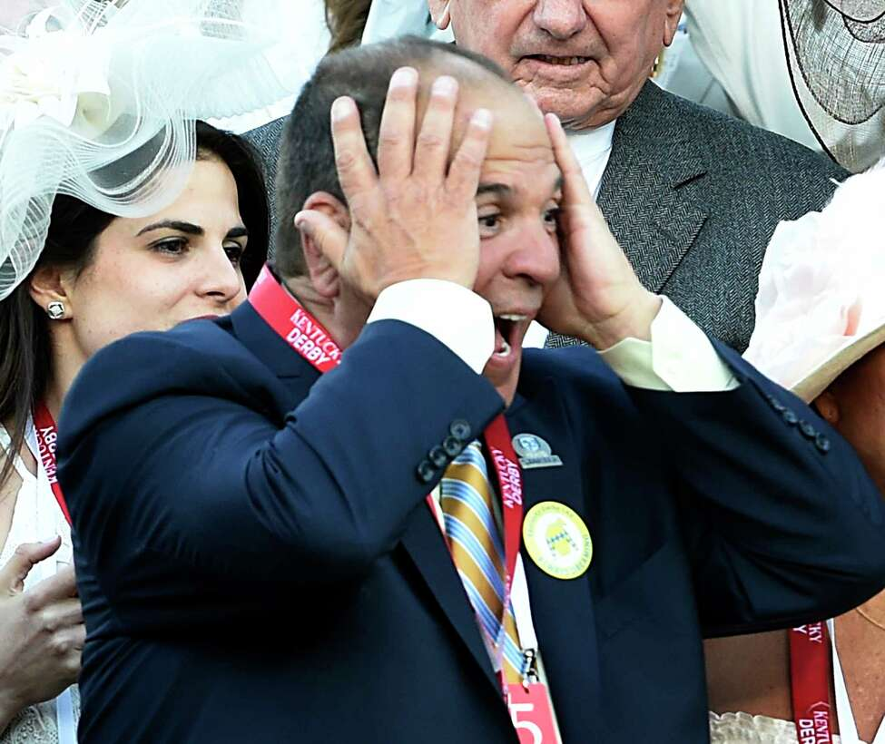 Owner Anthony Bonomo reacts his win in the 143rd Kentucky Derby May 6, 2017 by his horse Always Dreaming at Churchill Downs in Louisville, Kentucky. (Skip Dickstein/Times Union)