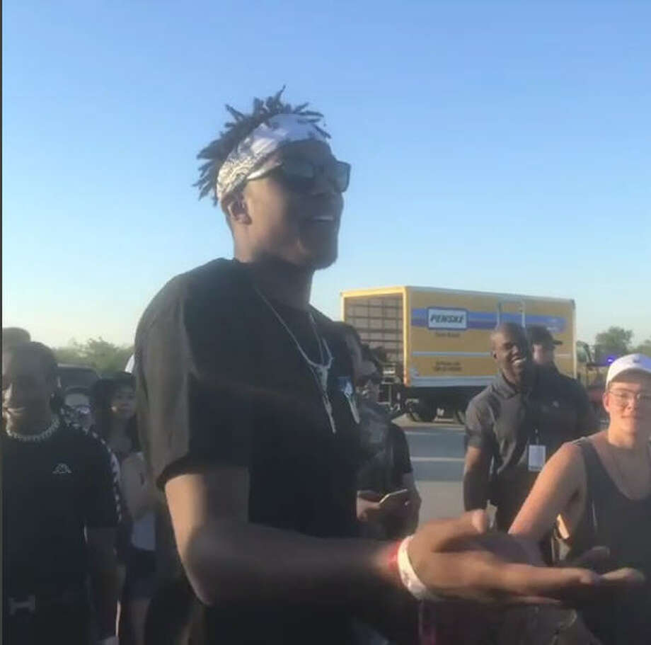 Chance the Rapper, Quavo and Offset, from the band Migos, and Texas native and NBA center Myles Turner met up in Dallas on May 6, 2017. What resulted was a game of knockout for $100,000. Turner won, by the way.
