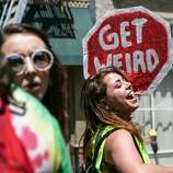 Nudists celebrate the Summer of Love in Castro