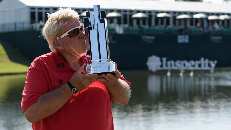 John Daly kisses the Trophy after winning the Insperity Invitational on Sunday, May 7, 2017 at The Woodlands Country Club Tournament Course in The Woodlands Texas. Photo: Wilf Thorne/For The Chronicle