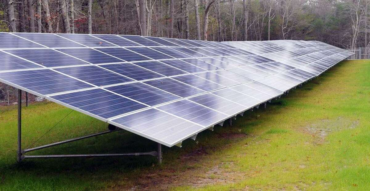 A solar array developed by Clean Energy Collective, in Westport, Mass.