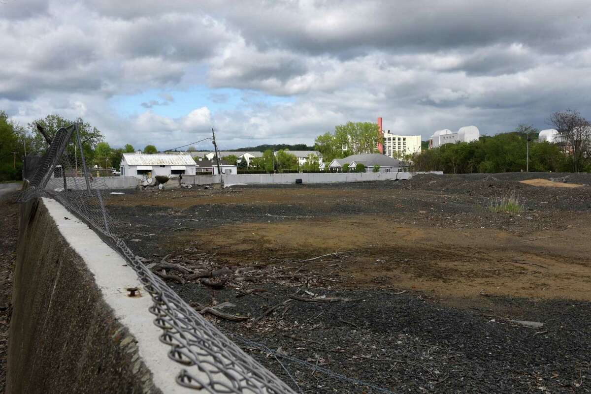 View of a former industrial site on an island in the Hudson River between Troy at the south end of Green Island. Environmental cleanup work that started in 2017 for the project should continue through early 2020, according to the state Department of Environmental Conservation.(Will Waldron/Times Union)