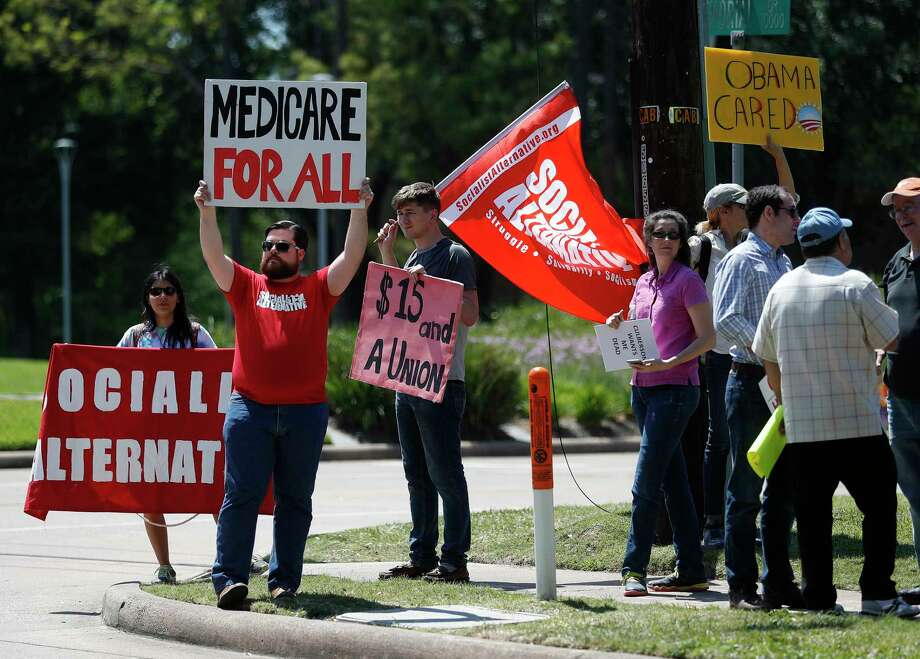 Protestors against the Obamacare replacement bill said they plan to target Sens. Ted Cruz and John Cornyn. Photo: Karen Warren, Staff Photographer / 2017 Houston Chronicle
