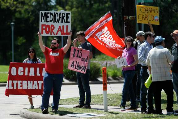 Protestors against the Obamacare replacement bill said they plan to target Sens. Ted Cruz and John Cornyn.