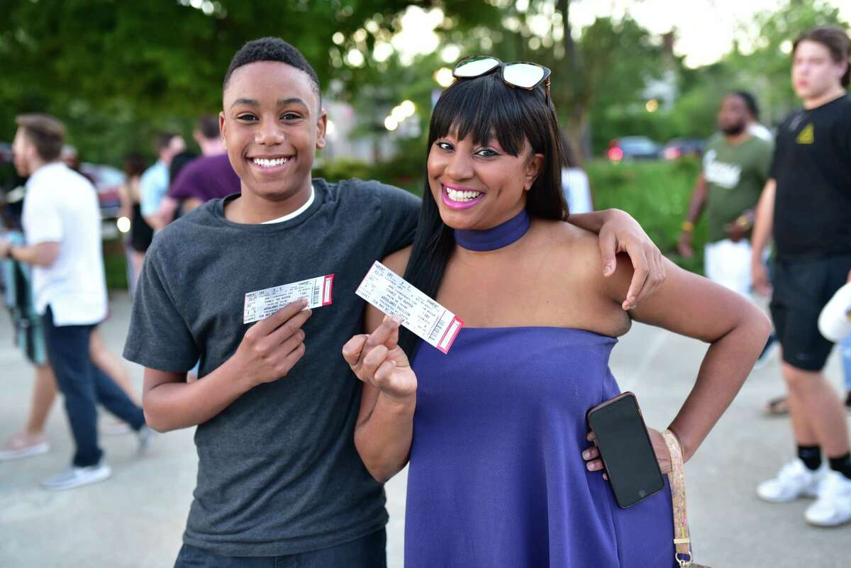 Fans at Cynthia Woods Mitchell Pavilion for Chance The Rapper in The Woodlands TX, Sunday May 7, 2017
