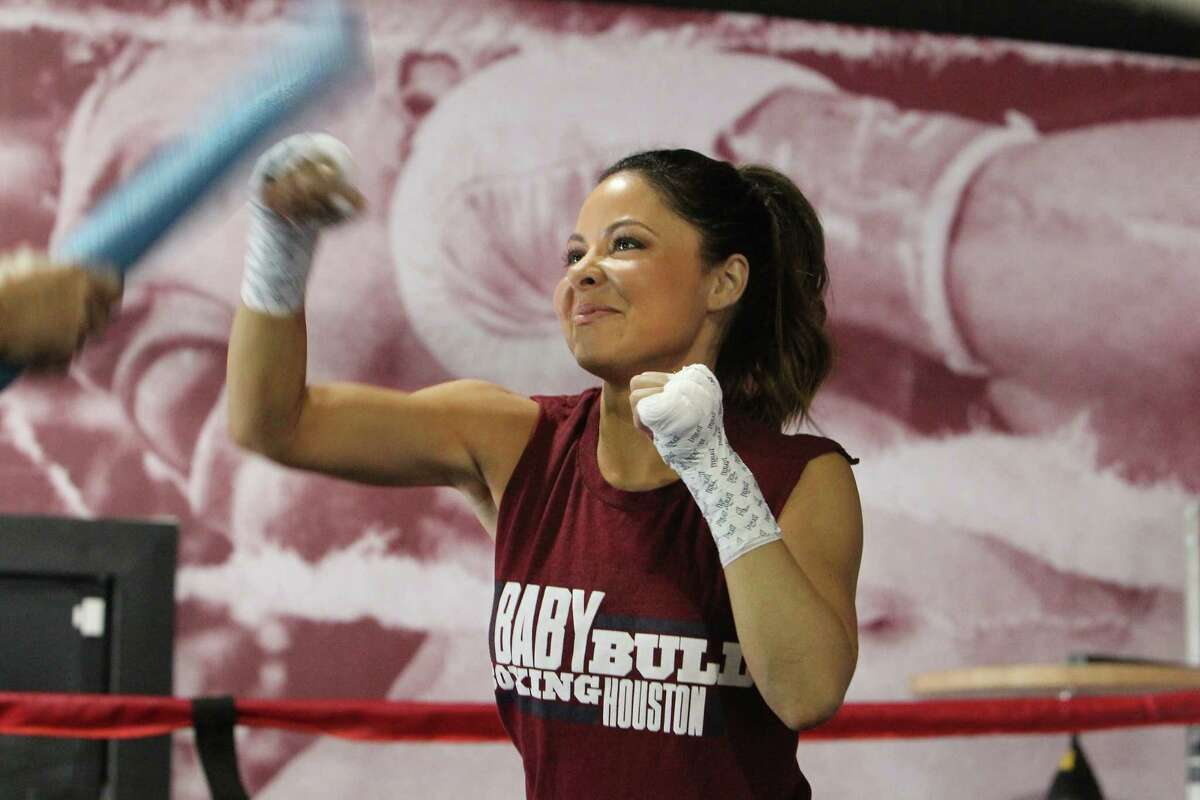 KPRC Channel 2's Jennifer Reyna works out in the ring.