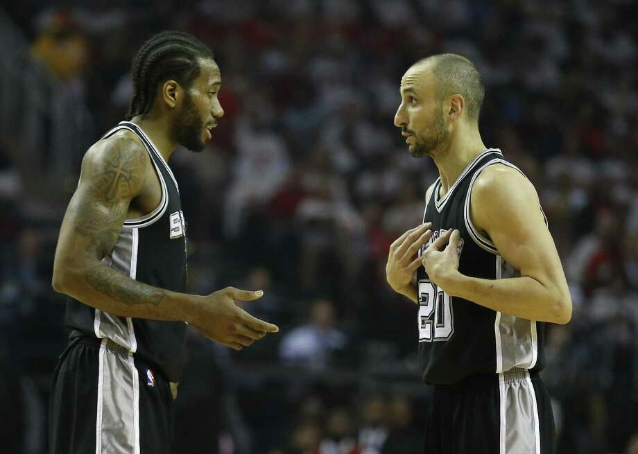 Manu Ginobili discussed Wednesday why it's better for the Spurs to play under the assumption that Kawhi Leonard will not return to the court this season. Photo: Kin Man Hui /San Antonio Express-News / ©2017 San Antonio Express-News