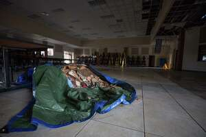 Frank Elementary School is closed after an overnight fire is believed to have started in a light fixture in the cafeteria area Monday, May 8, 2017, in Spring, Texas.