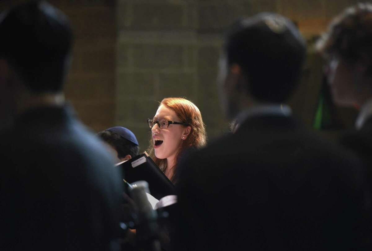 Greenwich's Hannah Bein, 17, performs with the Temple Sholom Teen Choir during the