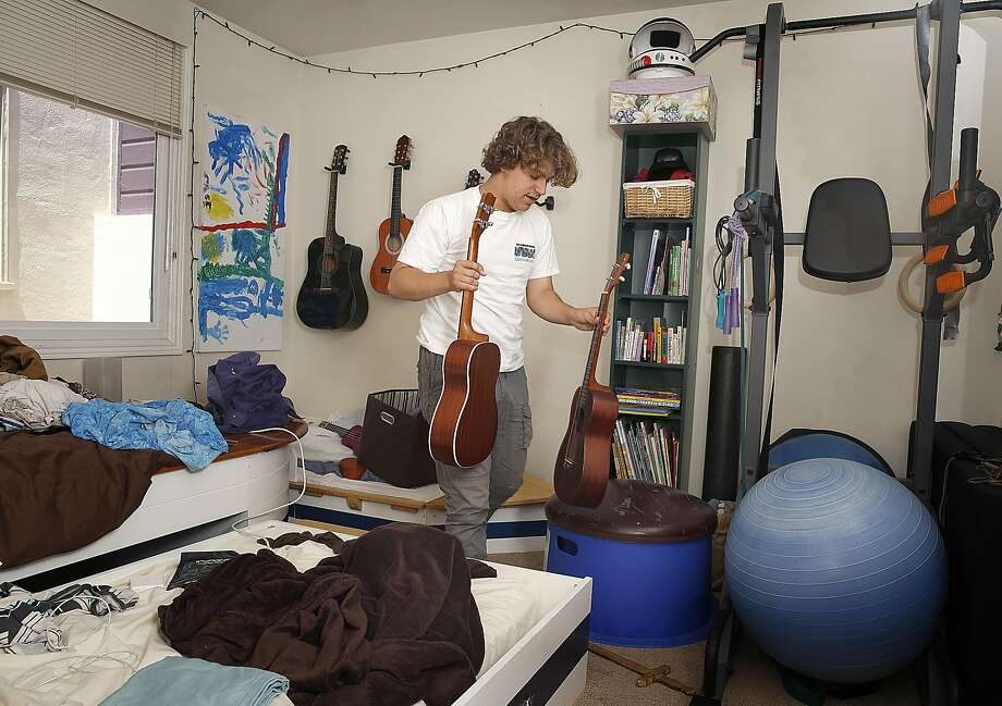 Sage Spencer, 17, packs his belongings to pursue teaching and acting in Los Angeles on Friday, May 5, 2017, in San Francisco, Calif.   Starting college at age 13, he graduated to be a substitute teacher.  After applying and doing all the requirements, Sage experienced age discrimination. Photo: Liz Hafalia, The Chronicle