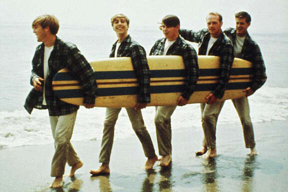 the Beach Boys in 1962, from left, Dennis Wilson, David Marks, Brian Wilson, Mike Love and Carl Wilson.