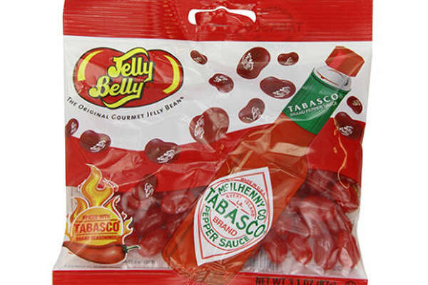 """Jelly Belly Tabasco Beans   $5    BUY NOW   If you're looking for a perfect gag gift, keep looking, because any hot sauce lover would probs be like """"WHAT, GIVE ME THOSE."""""""