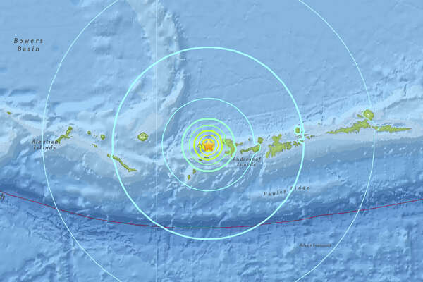 A magnitude 6.4 quake struck about 20 miles west southwest of Tanaga Volcano, Alaska on May 8, 2017.