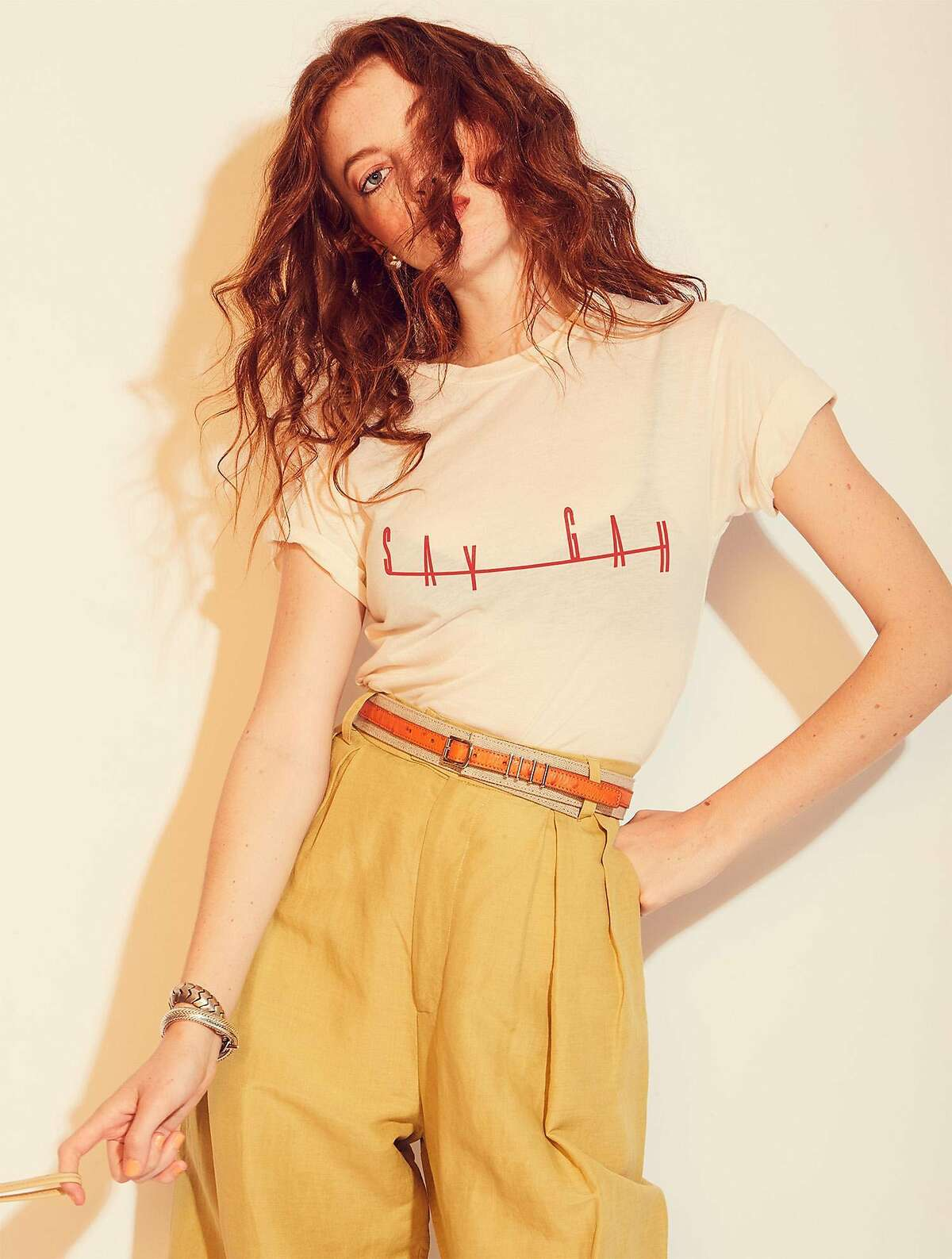 """T-shirt brand MONOGRAM has partnered with San Francisco etailer Lisa Says Gah to create a limited-edition shirt for $65 at lisasaysgah.com and monogramstudio.com. The company is also introducing a new style May 3, """"Enfant Terrible."""""""