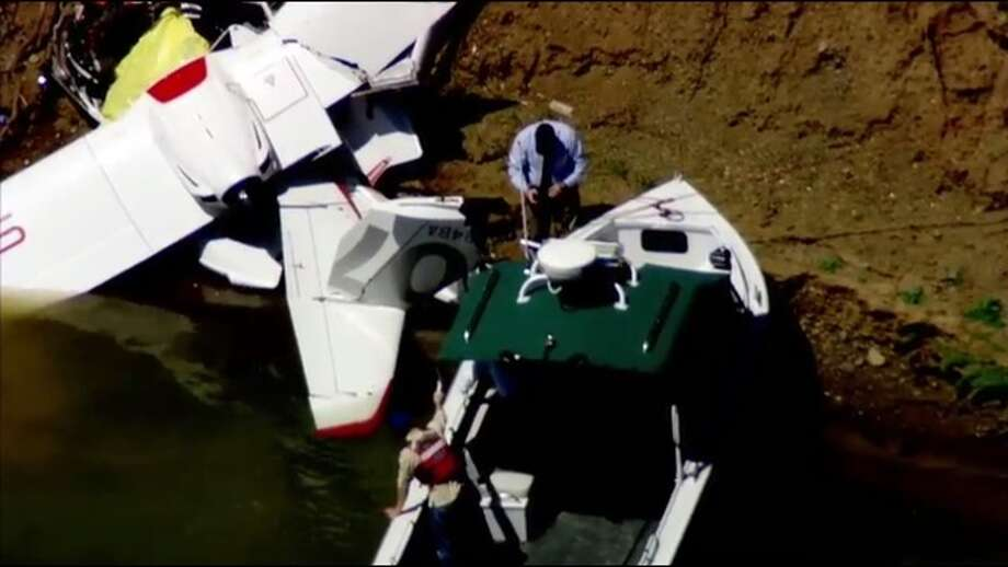 Two people were killed when a small plane crashed near Lake Berryessa in Napa County Monday morning, officials said. Photo: KTVU