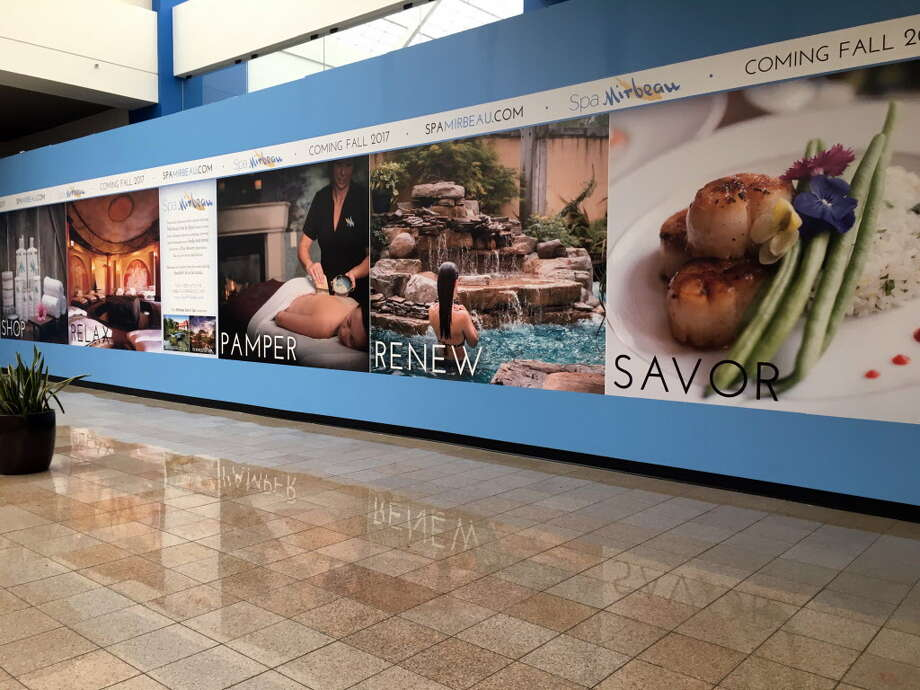 Site at Crossgates Mall where Spa Mirbeau is expected to open in the fall on Monday, May 8, 2017, on Route 9 in Guilderlnad, N.Y. (Will Waldron/Times Union Photo: Will Waldron, Albany Times Union