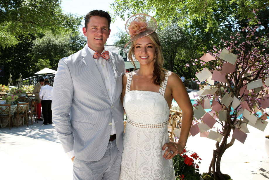 The inaugural Hats, Hearts, and Horseshoes Kentucky Derby Party Chairs Megan and Luke Hotze  Photo: Yi-Chin Lee, Houston Chronicle / © 2017  Houston Chronicle