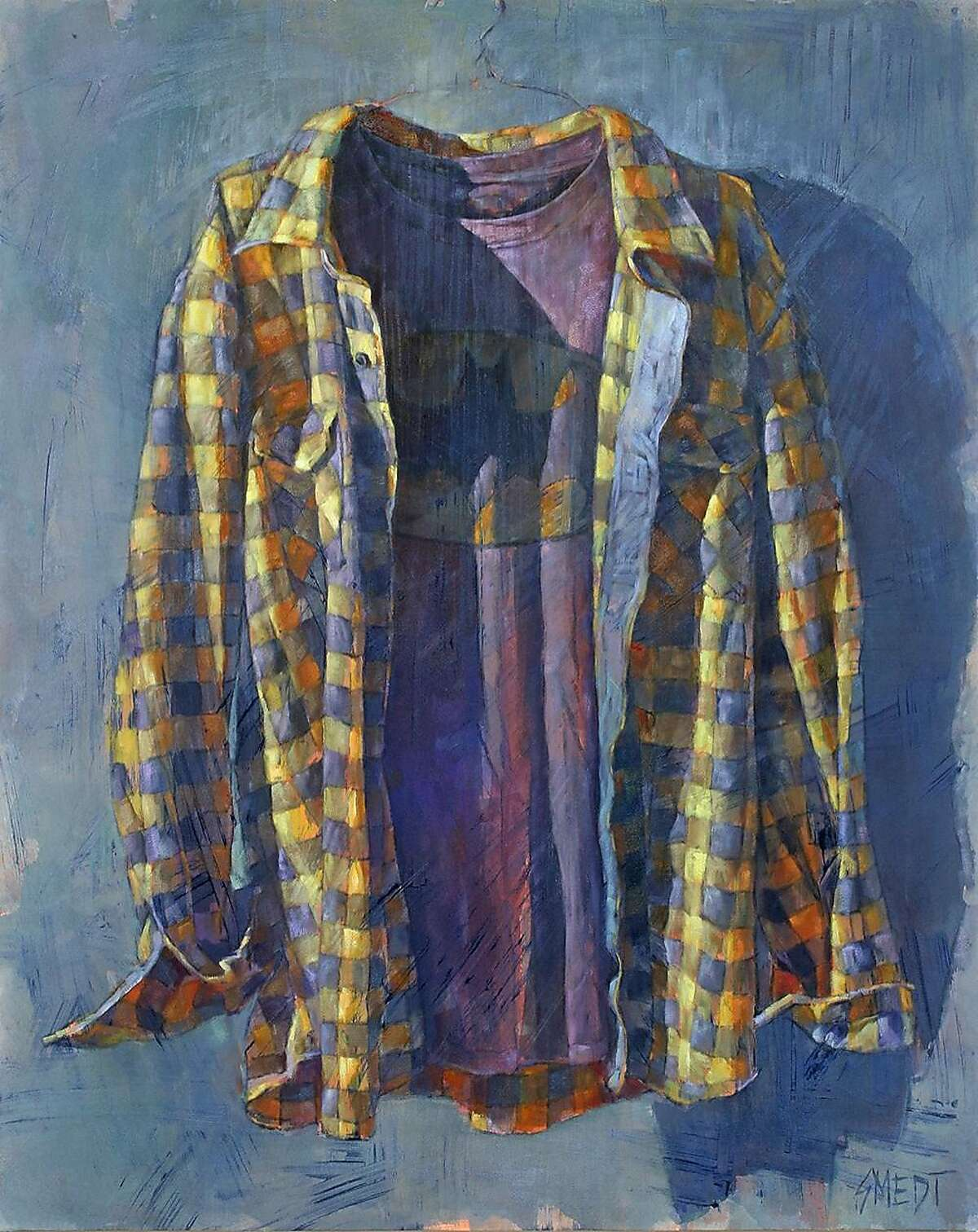 """""""I'm Batman"""" by Northern California Artist Gordon Smedt, on view at the Whitney Modern Contemporary Fine Art Gallery in Los Gatos."""