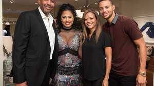 NEW YORK, NY - SEPTEMBER 20: Dell Curry, Ayesha Curry, Sonya Curry and Stephen Curry attend the Williams-Sonoma Ayesha Curry Book Signing at Williams-Sonoma Columbus Circle on September 20, 2016 in New York, New York. (Photo by Jared Siskin/Patrick McMullan via Getty Images)