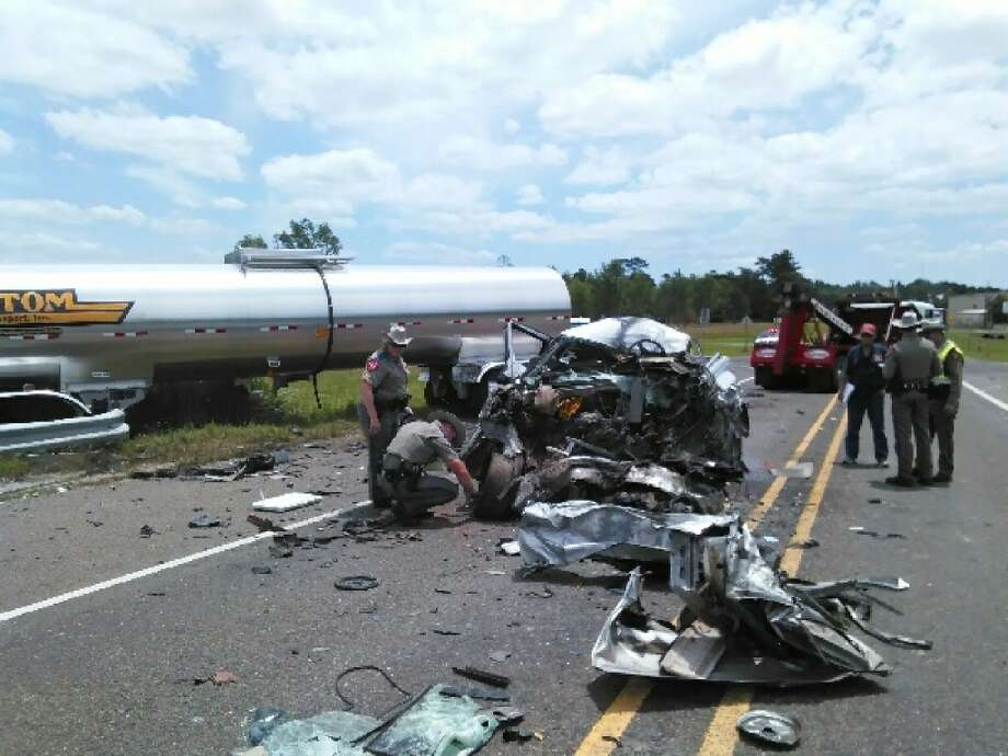 Scene from the fatal accident on Texas 62 near Interstate 10 on Monday. Photo: Photos Provided By Eric Williams