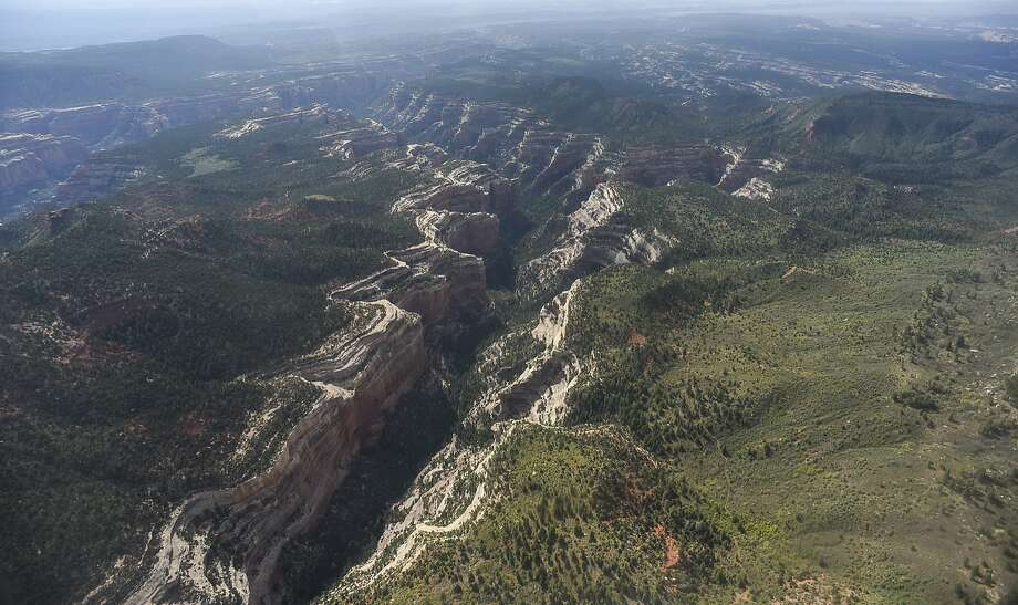 An aerial view shows a portion of Arch Canyon within Bears Ears National Monument in Utah as seen in December. Photo: Francisco Kjolseth, Associated Press