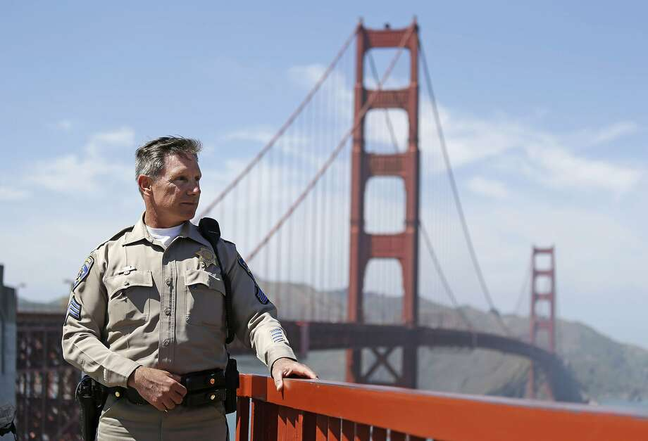 California Highway Patrol Sgt. Kevin Briggs, now retired, often talked people out of committing suicide at the Golden Gate Bridge in San Francisco. Photo: Eric Risberg, Associated Press