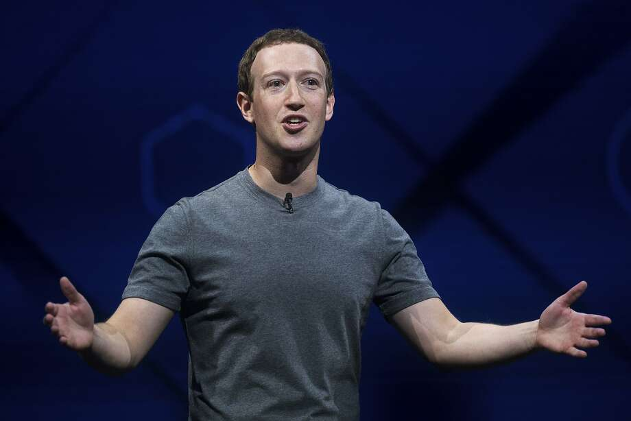 Facebook CEO Mark Zuckerberg speaks at his company's annual F8 developer conference in San Jose in April. Because of his voting control of the company, shareholder-backed measures can't succeed without his approval. Photo: Noah Berger, Associated Press