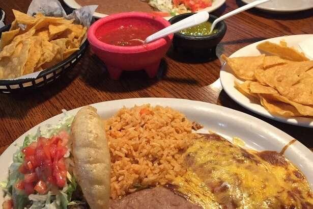 Pancho Villa plate at Los Generales Mexican Restaurant.
