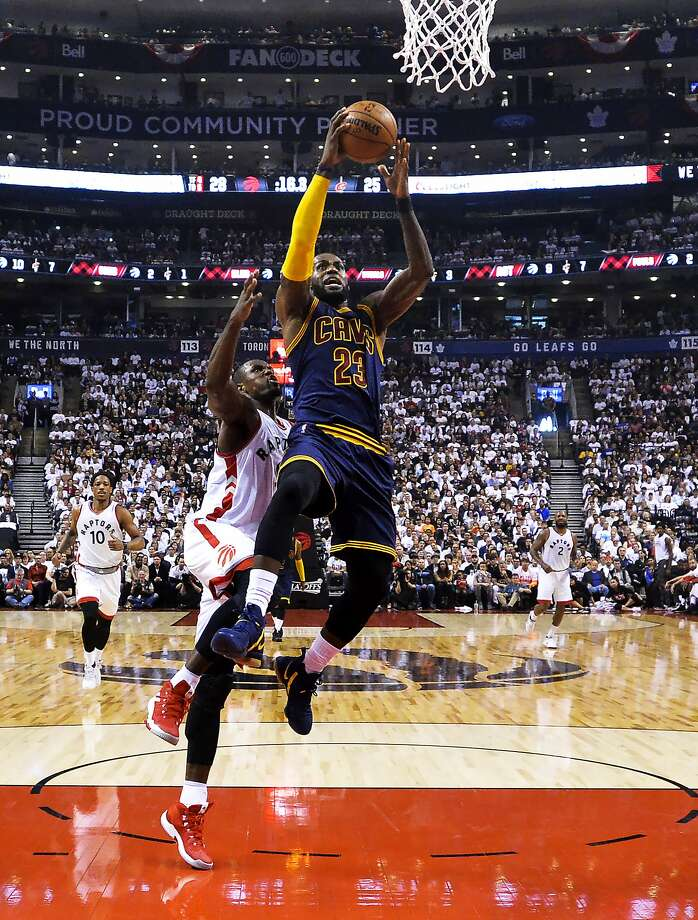 Cleveland's LeBron James is averaging 34.4 points, nine rebounds and 7.1 assists in eight playoff games. Such a stat line has never been kept up over the course of an entire postseason. Photo: Nathan Denette, Associated Press