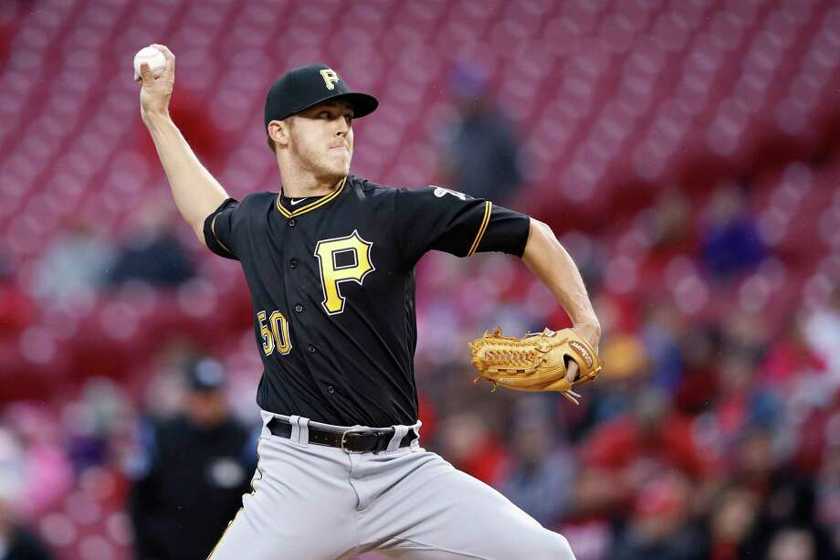 CINCINNATI, OH - MAY 03: Jameson Taillon #50 of the Pittsburgh Pirates pitches in the first inning of a game against the Cincinnati Reds at Great American Ball Park on May 3, 2017 in Cincinnati, Ohio. (Photo by Joe Robbins/Getty Images) Photo: Joe Robbins, Stringer / 2017 Getty Images