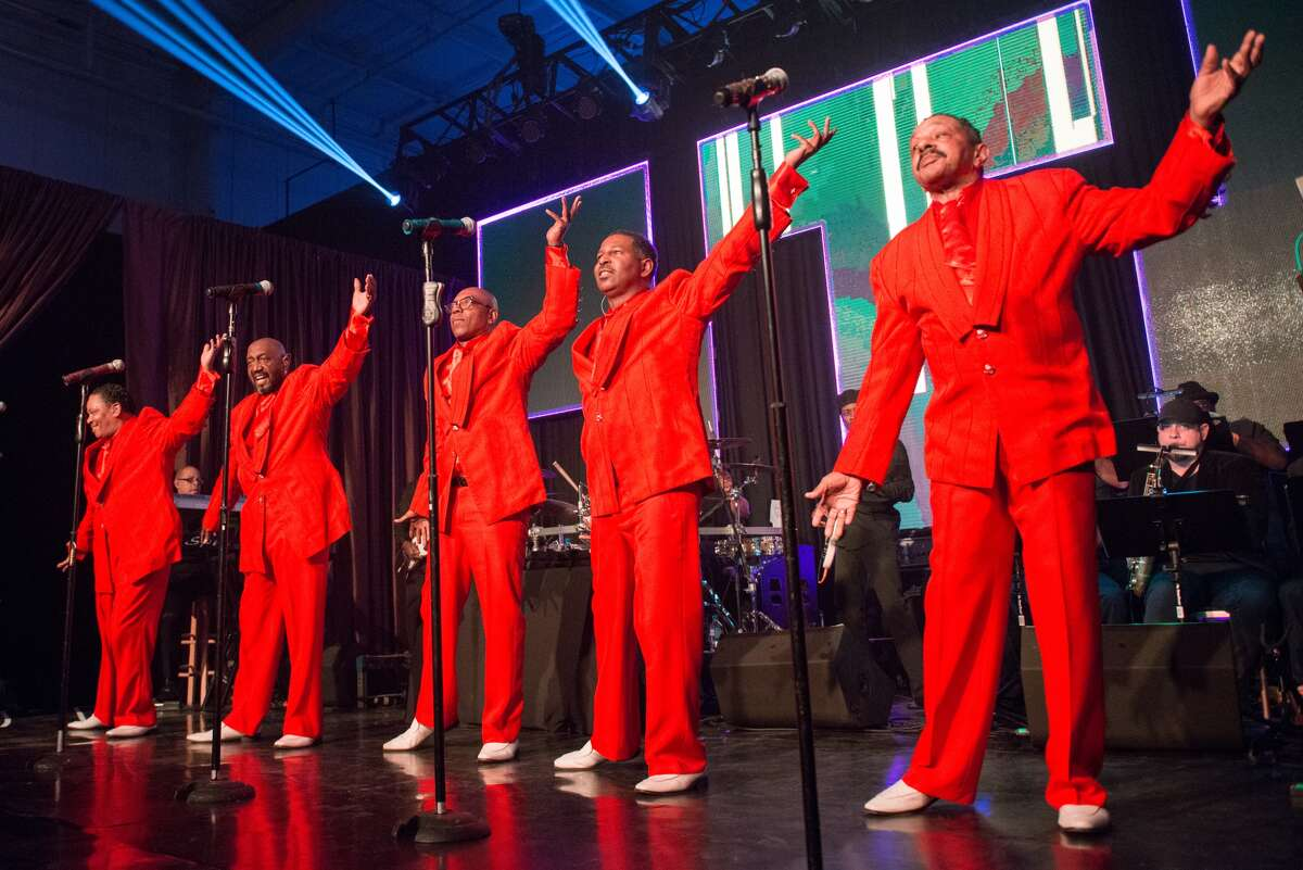 The Temptations perform during the 2017 Alley Theatre Ball.
