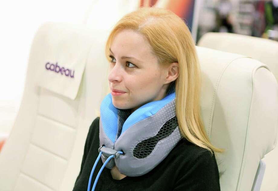 Cabeau's Evolution Cool neck pillow won last year's Buzz Award. / The Washington Post