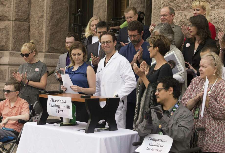 Dr. Robert Marks, an Austin-based anesthesiologist, speaks in favor of HB 2107, which aimed to widen access to medical cannabis, during an April 25 news conference. This legislative session, bipartisan bills addressing medical cannabis and decriminalization, including HB 2107, once again died at the state Capitol despite having bipartisan support. Photo: Stephen Spillman /For The San Antonio Express-News / stephenspillman@me.com Stephen Spillman
