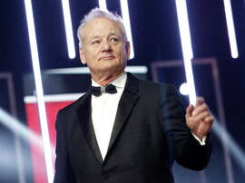 "FILE - In this Dec. 4, 2015, file photo, Bill Murray gestures prior to receiving an award for his contribution to acting, during the 15th Marrakech International Film Festival in Marrakech, Morocco. On Sunday, Oct. 23, 2016, Murray will receive the Mark Twain Prize for American Humor, at the Kennedy Center in Washington. The 66-year-old Murray joins several other ""Saturday Night Live"" alumni who've received the prize, including Tina Fey, Will Ferrell and last year's winner, Eddie Murphy. (AP Photo/Abdeljalil Bounhar, File) ORG XMIT: NYET223"