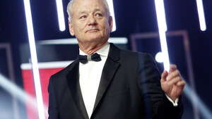 """FILE - In this Dec. 4, 2015, file photo, Bill Murray gestures prior to receiving an award for his contribution to acting, during the 15th Marrakech International Film Festival in Marrakech, Morocco. On Sunday, Oct. 23, 2016, Murray will receive the Mark Twain Prize for American Humor, at the Kennedy Center in Washington. The 66-year-old Murray joins several other """"Saturday Night Live"""" alumni who've received the prize, including Tina Fey, Will Ferrell and last year's winner, Eddie Murphy. (AP Photo/Abdeljalil Bounhar, File) ORG XMIT: NYET223"""