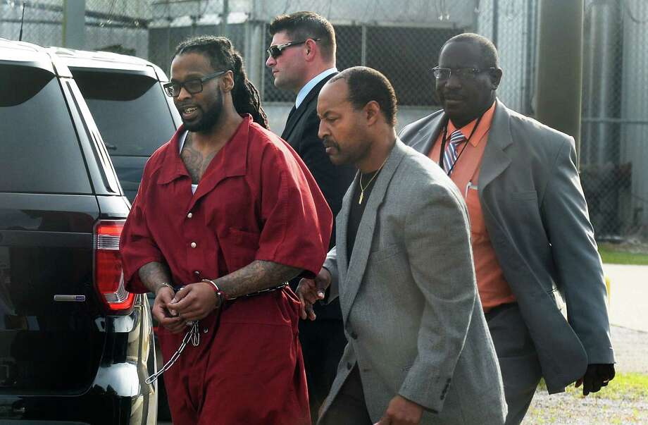 Joesph Colone is escorted into the Jefferson County Jail after being sentenced to death on Monday for the 2010 killings of Briana and Mary Goodman. Photo taken Monday, May 08, 2017 Guiseppe Barranco/The Enterprise Photo: Guiseppe Barranco, Photo Editor