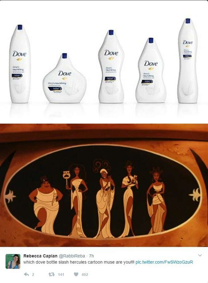 Dove released soap bottles based on body types and the internet is confused Photo: Twitter