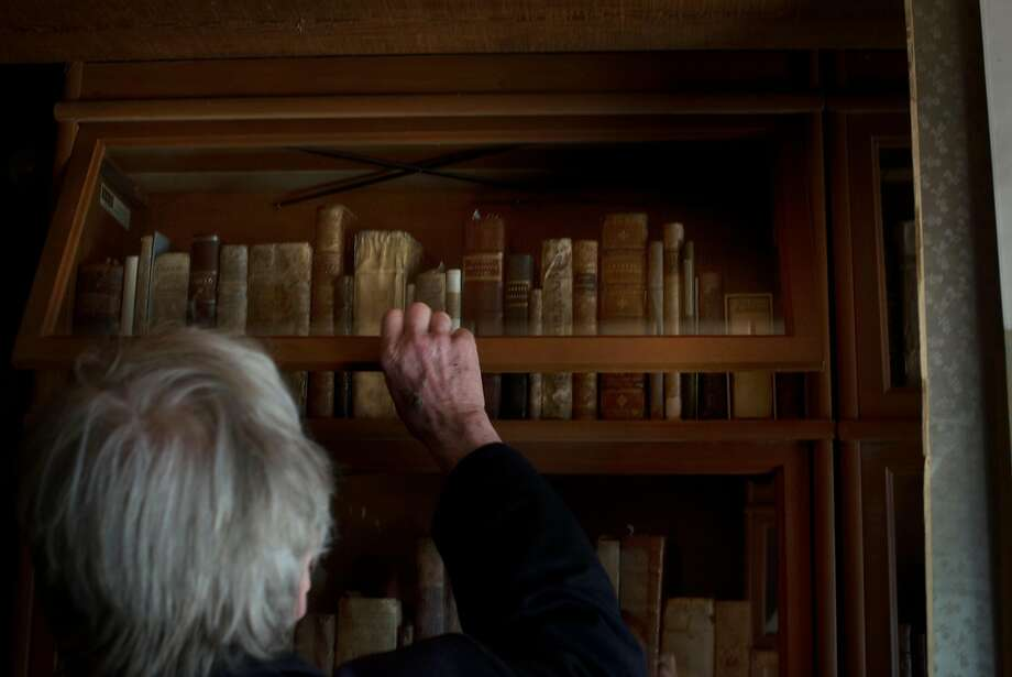 Winemaker Sean Thackrey in the library of his home in Bolinas, California. May 4, 2017 Photo: Erik Castro, Special To The Chronicle